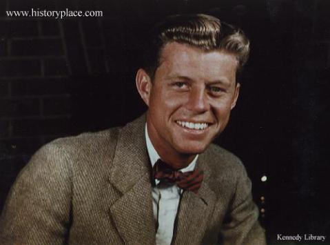 Rare color photo of Jack Kennedy